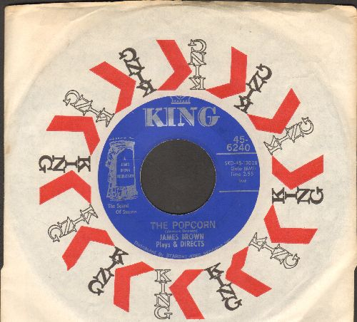 Brown, James - The Popcorn/The Chicken (with King company sleeve) - EX8/ - 45 rpm Records