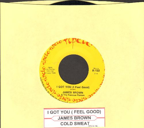 Brown, James - I Got You (I Feel Good)/Cold Sweat (double-hit re-issue with juke box label) - EX8/ - 45 rpm Records