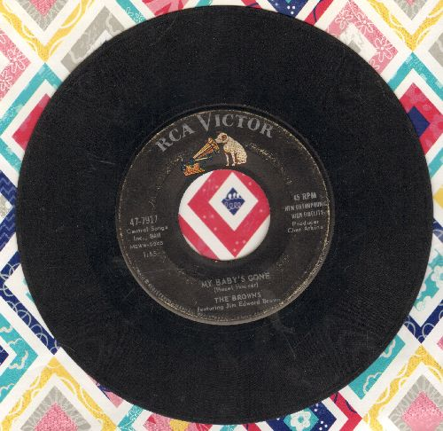 Browns - My Baby's Gone/Whispering Wine  - G5/ - 45 rpm Records