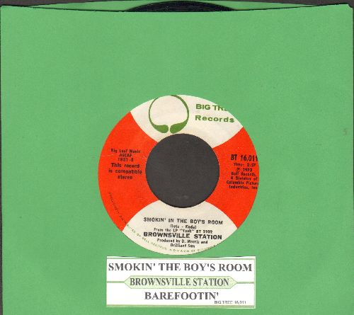 Brownsville Station - Smokin' In The Boy's Room/Barefootin' (with juke box label) - NM9/ - 45 rpm Records