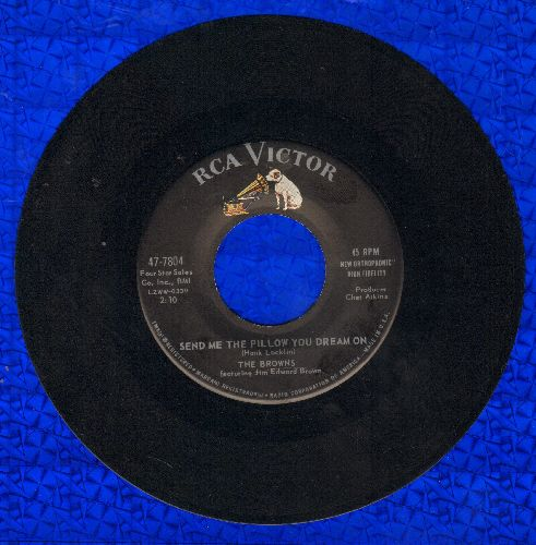 Browns - Send Me The Pillow You Dream On/You're So Much A Part Of Me - EX8/ - 45 rpm Records