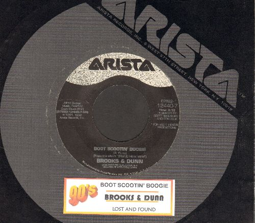 Brooks & Dunn - Boot Scootin' Boogie (COUNTRY LINE-DANCE FAVORITE!)/Lost And Found (with juke box label and Arista company sleeve) - EX8/ - 45 rpm Records