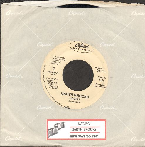 Brooks, Garth - Rodeo/New Way To Fly (with Capitol company sleeve and juke box label) - EX8/ - 45 rpm Records