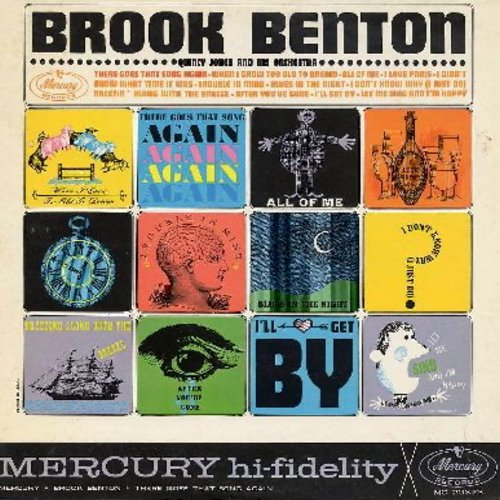Benton, Brook - Brook Benton: When I Grow Too Old To Dream, All Of Me, I Love Paris, Let Me Sing And I'm Happy, Trouble In Mind - EX8/EX8 - LP Records