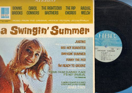 Righteous Brothers, Rip Chords, Donnie Brooks, others - A Swinging' Summer - Original Motion Picture Sound Track featuring original Rock & Roll recordings by various artists (Vinyl STEREO  LP record, gate-fold cover, NICE condition!) - NM9/NM9 - LP Record