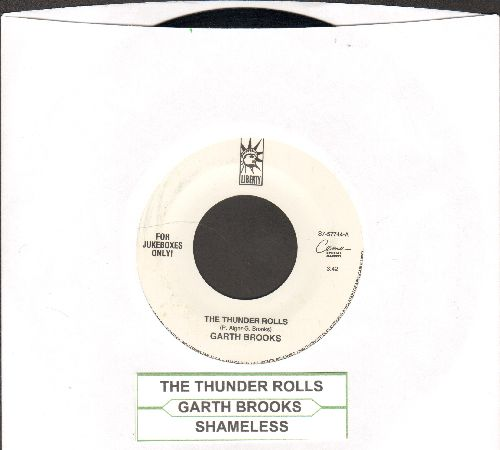 Brooks, Garth - The Thunder Rolls/Shameless (with juke box label) - EX8/ - 45 rpm Records