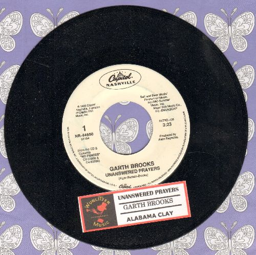 Brooks, Garth - Unanswered Prayers (SLOW-DANCE FAVORITE!)/Alabama Clay (with juke box label) - NM9/ - 45 rpm Records