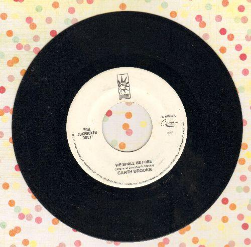 Brooks, Garth - We Shall Be Free/Night Rider's Lament  - NM9/ - 45 rpm Records