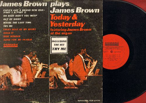 Brown, James - James Brown Plays James Brown - Today & Yesterday: Papa's Got A Brand New Bag/Try Me, A Song For My Father, Hold It (Vinyl MONO LP record) - EX8/VG7 - LP Records