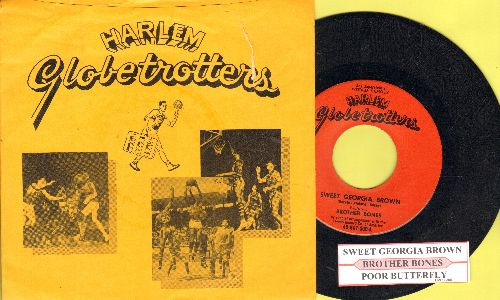 Brother Bones - Sweet Georgia Brown (The Harlem Globetrotters Theme)/Poor Butterfly (with juke box label and picture sleeve) - NM9/VG7 - 45 rpm Records