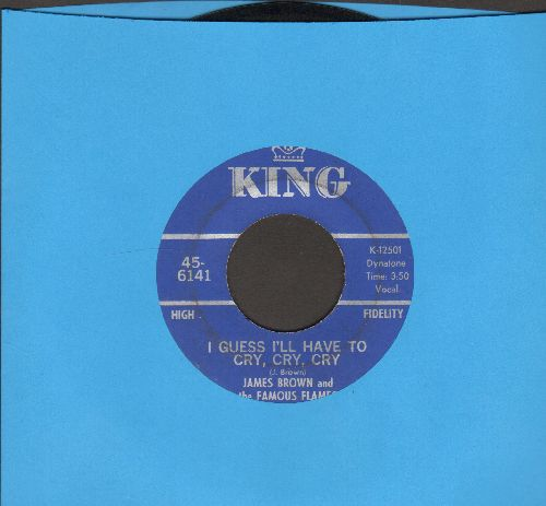 Brown, James & The Famous Flames - I Guess I'll Have To Cry, Cry, Cry/Just Plain Funk (wol) - EX8/ - 45 rpm Records