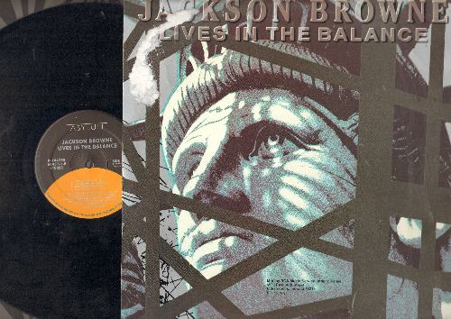 Browne, Jackson - Lives In The Balance: For America, Candy, Lawless Avenues, Black And White (vinyl STEREO LP record) - NM9/EX8 - LP Records