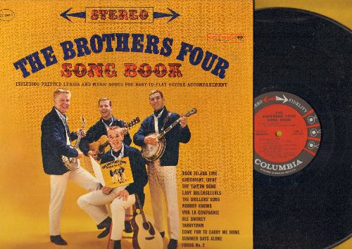 Brothers Four - Song Book: Goodnight Irene, Lady Greensleeves, Viva La Compagnie, Ole Smokey, Come For To Carry Me Home, Nobody Knows (Vinyl STEREO LP record, gate-fold cover with song lyrics pages)) - NM9/NM9 - LP Records