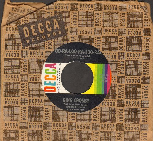 Crosby, Bing - Too-Ra-Loo-Ra-Loo-Ral (That's An Irish Lullaby)/I'll Take You Home Again, Kathleen (with Decca company sleeve and juke box label) - EX8/ - 45 rpm Records