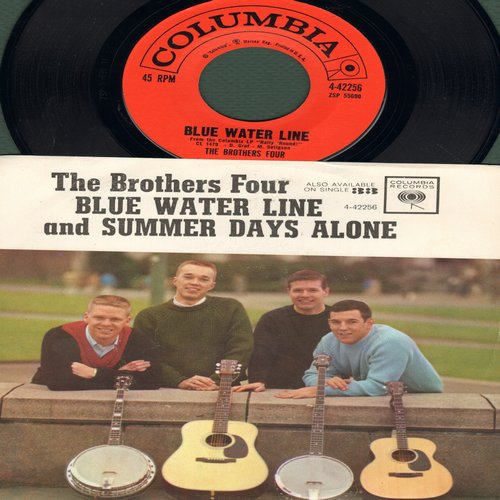Brothers Four - Blue Water Line/Summer Days Alone (with picture sleeve) - M10/NM9 - 45 rpm Records