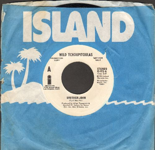 Wild Tchoupitoulas - Brother John (double-A-sided DJ advance pressing with Island company sleeve) - NM9/ - 45 rpm Records