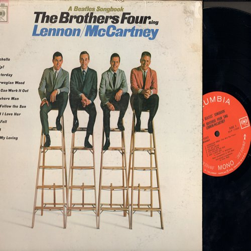 Brothers Four - The Brothers Four Sing Lennon/McCartney: Michelle, Help!, Yesterday, Nowhere Man, I'll Follow The Sun (Vinyl MONO LP record) - EX8/VG6 - LP Records