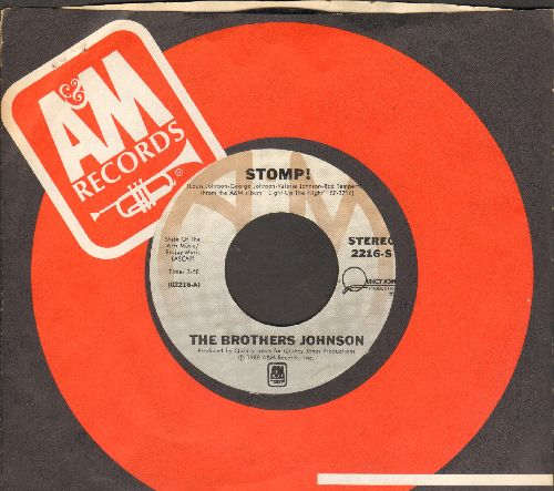 Brothers Johnson - Stomp!/Let's Swing (with A&M company sleeve) - NM9/ - 45 rpm Records
