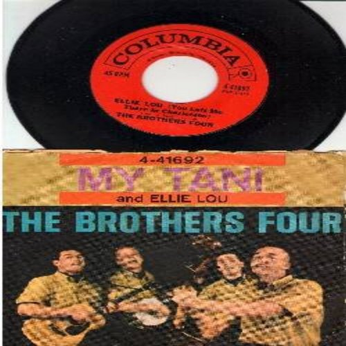 Brothers Four - Ellie Lou/My Tani (with picture sleeve) - NM9/G5 - 45 rpm Records