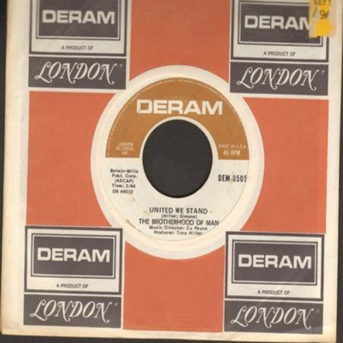 Brotherhood Of Man - United We Stand/Say A Prayer (with company sleeve) - NM9/ - 45 rpm Records