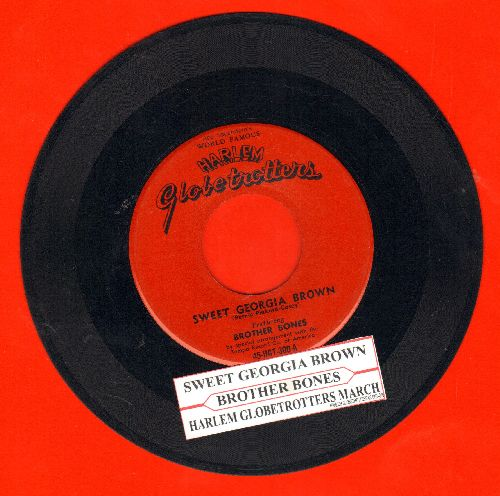 Brother Bones - Sweet Georgia Brown (The Harlem Globetrotters Theme)/Poor Butterfly (with juke box label) - VG6/ - 45 rpm Records