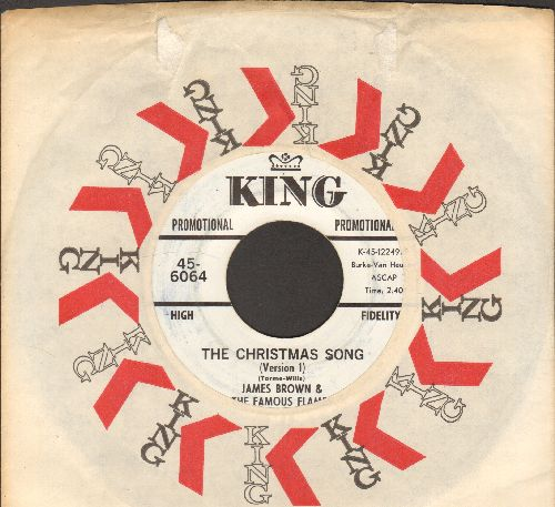 Brown, James & The Famous Flames - The Christmas Song (DJ advance pressing with Version 1 and Version 2, with vintage King company sleeve) - NM9/ - 45 rpm Records
