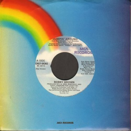 Brown, Bobby - Humpin' Around/Humpin' Around (Instrumental) - EX8/ - 45 rpm Records