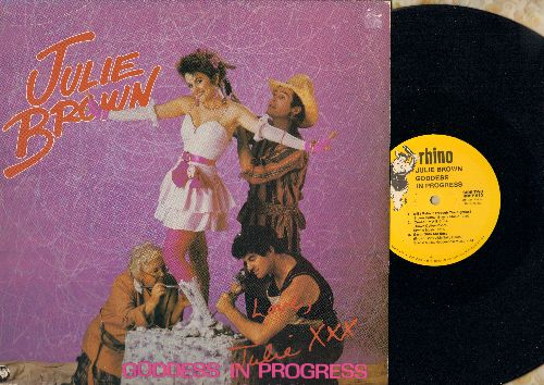Brown, Julie - Godess In Progress: I Like'm Big And Stupid/The Homecoming Queen's Got A Gun/Will I Make It Through The 80s?/Cause I'm A Blonde/Earth Girls Are Easy (Vinyl Mino-LP record) - NM9/EX8 - LP Records