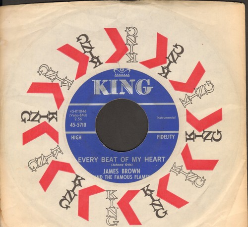 Brown, James & The Famous Flames - Every Beat Of My Heart/Like A Baby (with King company sleeve) - NM9/ - 45 rpm Records