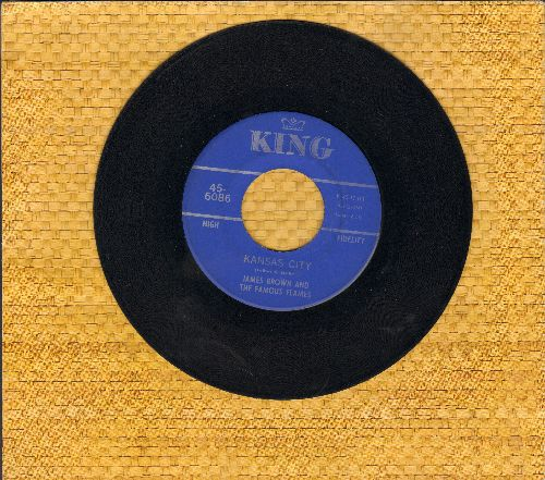 Brown, James & The Famous Flames - Kansas City/Stone Fox (with juke box label) - EX8/ - 45 rpm Records