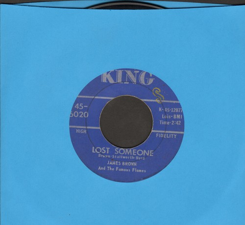 Brown, James & His Famous Flames - Lost Someone/I'll Go Crazy - EX8/ - 45 rpm Records