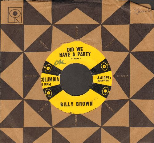 Brown, Billy - Did We Have A Party/It's Love (with vintage Columbia company sleeve) - VG7/ - 45 rpm Records