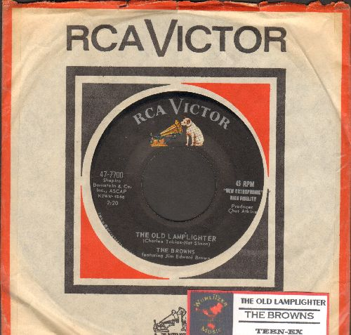 Browns - The Old Lamplighter/Teen-Ex (with RCA company sleeve and juke box label) - NM9/ - 45 rpm Records