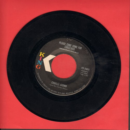 Brown, Charles - Please Come Home For Christmas/Christmas (Comes But Once A Year) (by Amos Milburn on flip-side) (1970s pressing) - NM9/ - 45 rpm Records