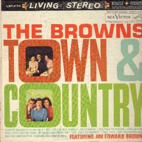 Browns - Town & Country: Scarlet Ribbons, Red Sails In The Sunset, Halfway To Heaven, Cool Water, True Love, The Old Lamplighter (Vinyl STEREO LP record) - NM9/EX8 - LP Records