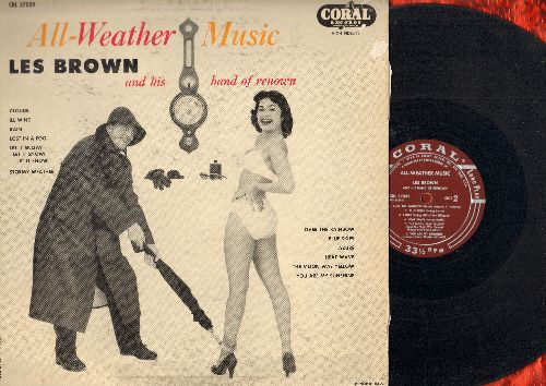 Brown, Les & His Band Of Renown - All-Weather Music: Stormy Weather, Over The Rainbow, Blue Skies, Heat Wave, You Are My Sunshine (Vinyl MONO LP record, burgundy label first pressing) - EX8/VG6 - LP Records