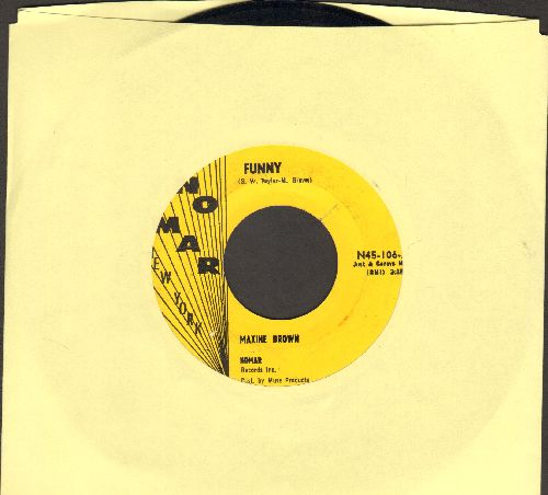 Brown, Maxine - Funny/Now That You've Gone - EX8/ - 45 rpm Records
