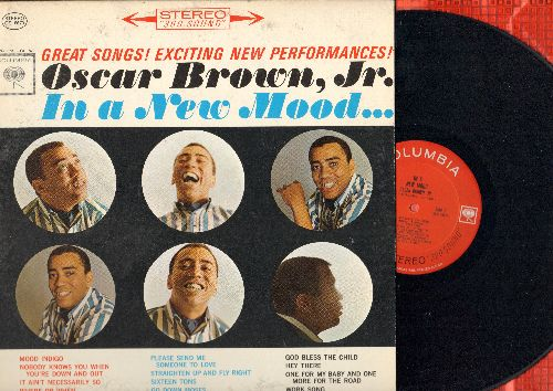 Brown, Oscar, Jr. - In A New Mood…:Where Or When, Hey There, One For My Baby And One More For The Road, Straighten Up And Fly Right (Vinyl STEREO LP record) - NM9/EX8 - LP Records
