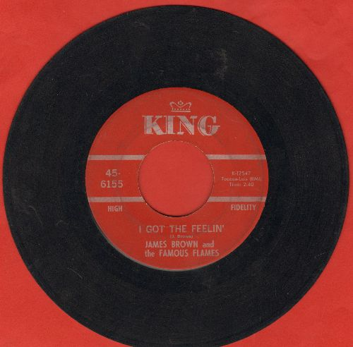 Brown, James & The Famous Flames - I Got The Feelin'/If I Ruled The World (maroon label) - VG7/ - 45 rpm Records