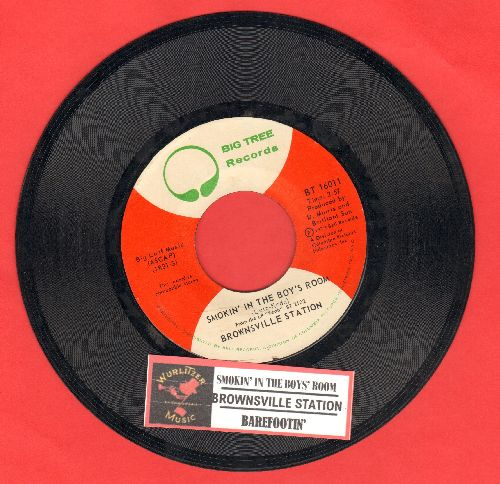 Brownsville Station - Smokin' In The Boy's Room/Barefootin' (with juke box label) - VG7/ - 45 rpm Records