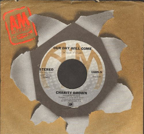 Brown, Charity - Our Day Will Come/Take Me In Your Arms (with company sleeve) - NM9/ - 45 rpm Records