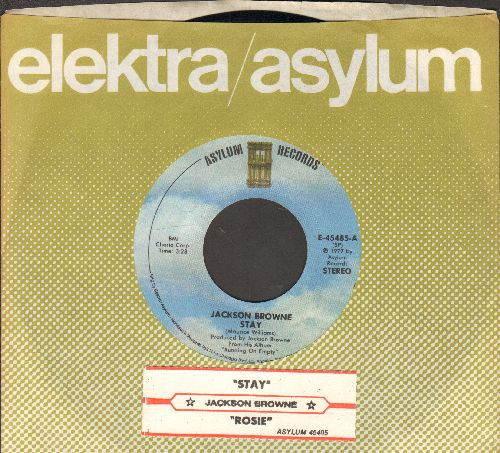 Browne, Jackson - Stay/Rosie (with juke box label and company sleeve) - EX8/ - 45 rpm Records