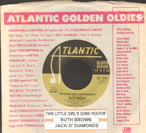 Brown, Ruth - This Little Girl;'s Gone Rockin'/Jack O' Diamonds (double-hit re-issue with Atlantic company sleeve) - EX8/ - 45 rpm Records