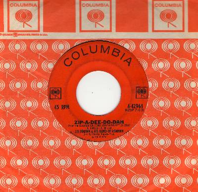 Brown, Les & His Band Of Renown - Zip-A-Dee-Do-Dah/La Bomba (FANTASTIC 1960s Go-Go Sound!) (with Columbia company sleeve) - VG6/ - 45 rpm Records