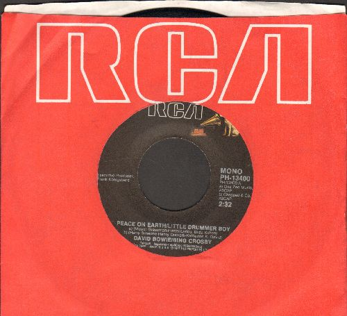 Bowie, David/Bing Crosby - Peace On Earth/Little Drummer Boy (double-A-sided DJ advance pressing with RCA company sleeve)(wol) - EX8/ - 45 rpm Records