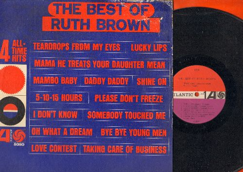 Brown, Ruth - The Best Of Ruth Brown: Mama He Treats Your Daughter Mean, Lucky Lips, Mambo Baby, Shine On (vinyl MONO LP record, 1962 first pressing) - VG7/VG6 - LP Records