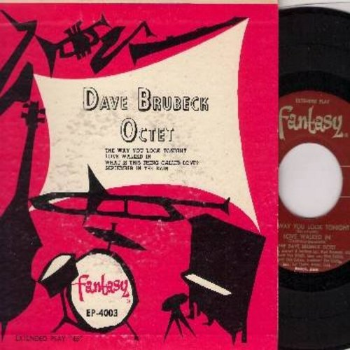Brubeck, Dave Octet - The Way You Look Tonight/Love Walked In/What Is This Thing Called Love?/September In The Rain (Vinyl EP record with picture cover) - NM9/EX8 - 45 rpm Records