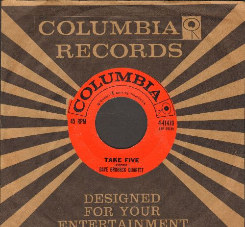 Brubeck, Dave Quartet - Take Five/Blue Rondo A La Turk (with Columbia company sleeve) - VG7/ - 45 rpm Records