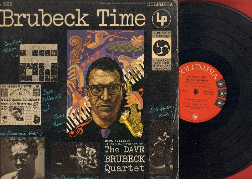 Brubeck, Dave Quartet - Brubeck Time: Audrey, Pennies From Heaven, A Fine Romance, Brother Can You Spare A Dime (vinyl MONO LP record, red label, 6 eyes 1955 first pressing) - NM9/EX8 - LP Records
