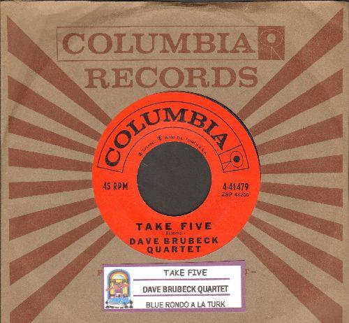 Brubeck, Dave Quartet - Take Five/Blue Rondo A La Turk (with juke box label and Columbia company sleeve) - EX8/ - 45 rpm Records